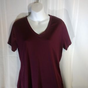 Champion XXL Maroon polyester top